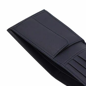 vue à plat ouvert portefeuille essentiel cuir gris jules & jenn