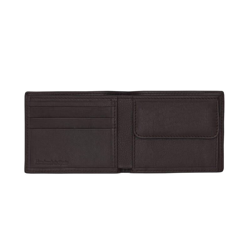 vue interieure du portefeuille essentiel cuir marron jules & jenn