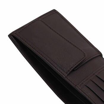 vue à plat ouvert portefeuille essentiel cuir marron jules & jenn