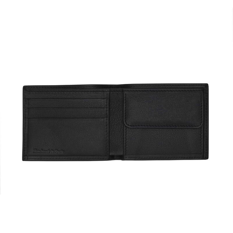 vue interieure du portefeuille essentiel cuir noir jules & jenn
