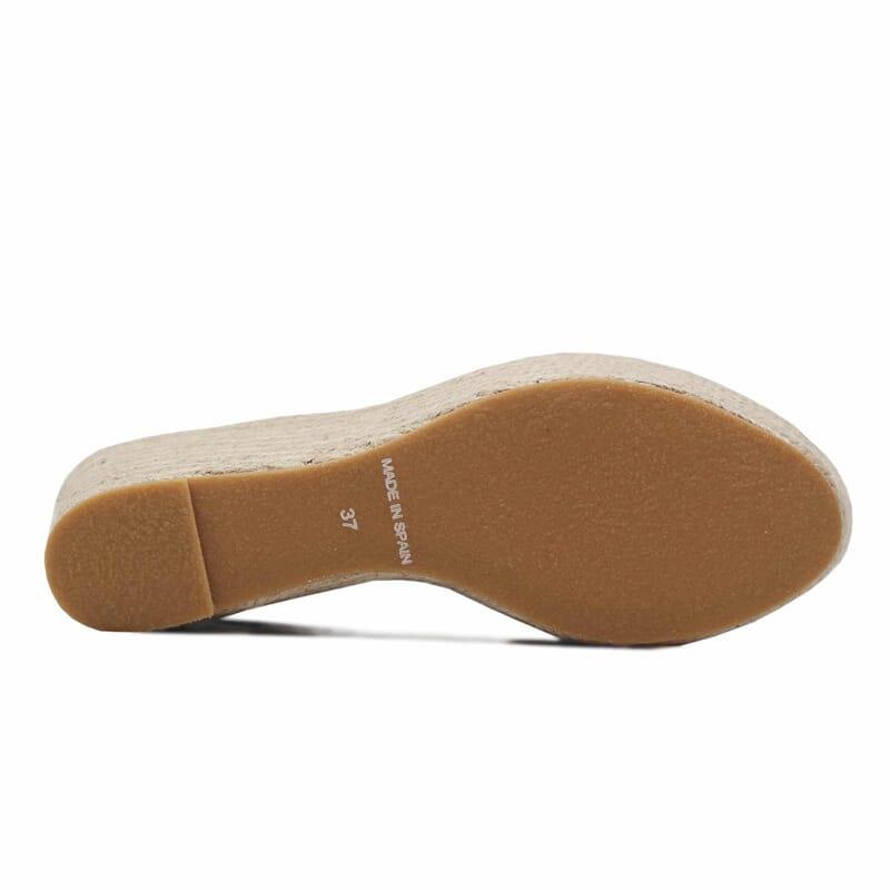 semelle sandales compensees cuir rouge jules & jenn