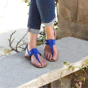 vue portee sandales tropeziennes jules & jenn