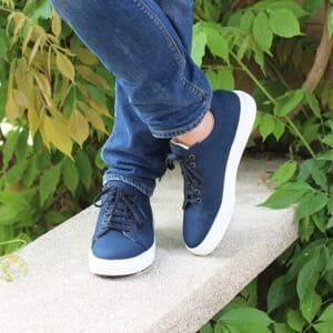 portee exterieure baskets recyclees homme bleu jules & jenn
