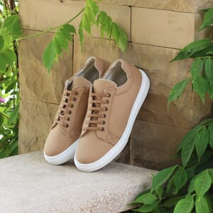 posee exterieure baskets recyclees homme camel jules & jenn
