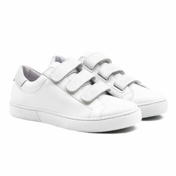 baskets a scratch cuir blanc
