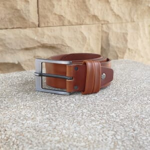 vue posee ceinture casual cuir cognac jules&jenn