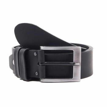 ceinture casual cuir noir jules & jenn