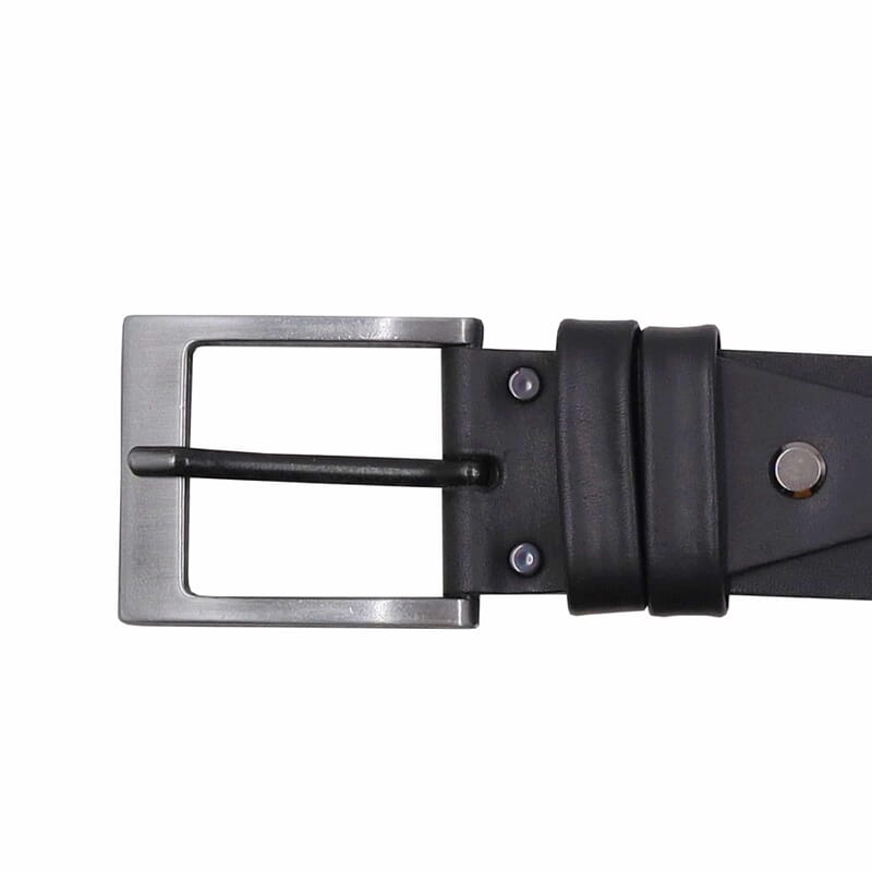 boucle ceinture casual cuir noir jules&jenn