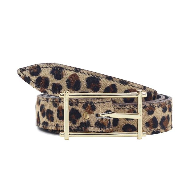 Ceinture mademoiselle cuir léopard jules & jenn