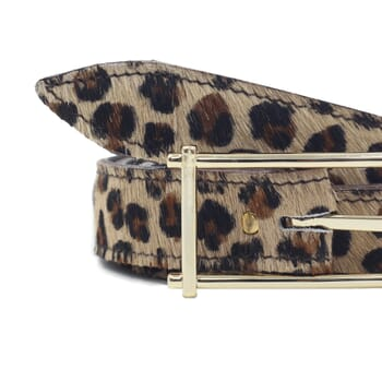 gros plan ceinture mademoiselle cuir léopard jules & jenn