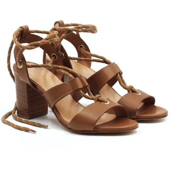 sandales hautes lacees cuir camel jules & jenn