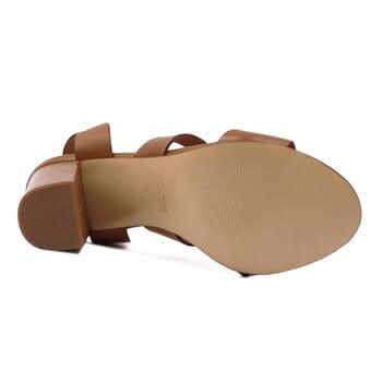 vue dessous sandales hautes lacees cuir camel jules & jenn
