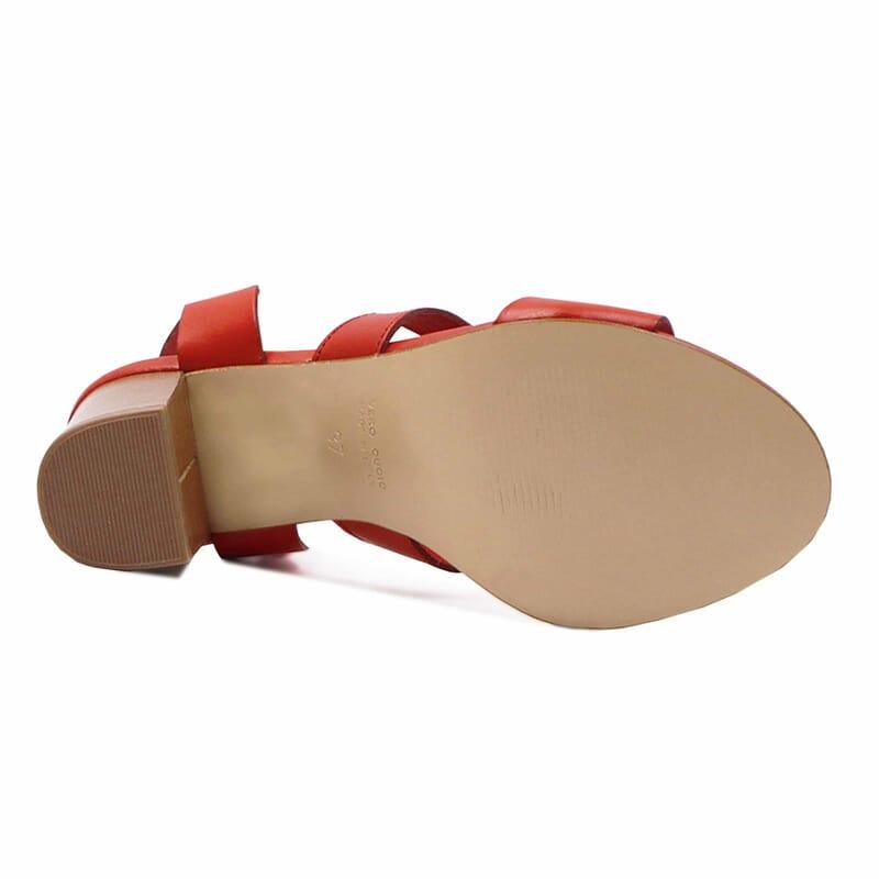 vue dessous sandales hautes lacees cuir corail jules & jenn