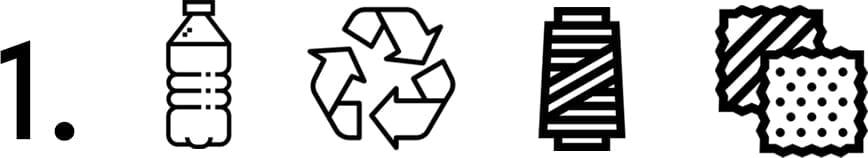 Comment est fabriquee la toile des baskets recyclee