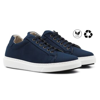 baskets recyclees homme bleu jules & jenn