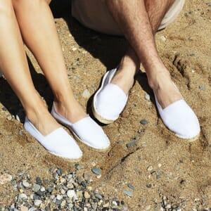 vue posee espadrilles toile de coton blanc jules & jenn