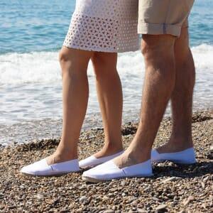 vue portee espadrilles toile de coton blanc jules & jenn