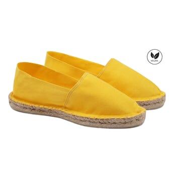 espadrilles toile de coton jaune jules & jenn