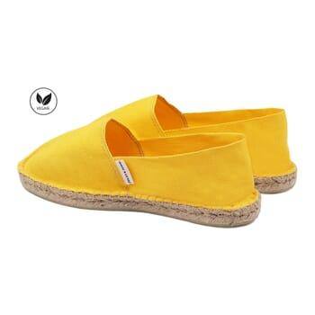 vue arriere espadrilles toile de coton jaune jules & jenn