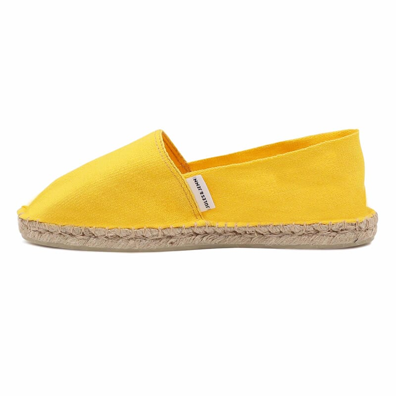 vue exterieur espadrilles toile de coton jaune jules & jenn
