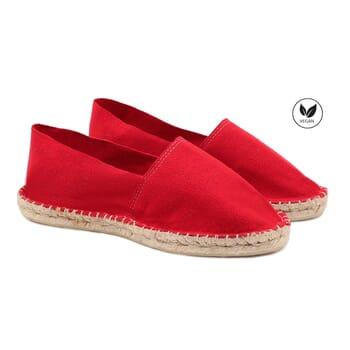 espadrilles toile de coton rouge jules & jenn