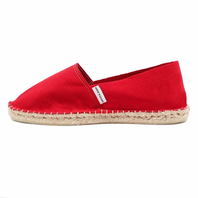 vue exterieur espadrilles toile de coton rouge jules & jenn