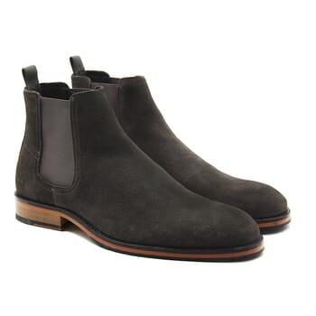 chelsea boots basse homme cuir daim gris jules & jenn