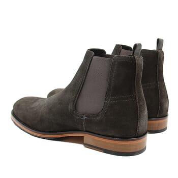 vue arriere chelsea boots basse homme cuir daim gris jules & jenn