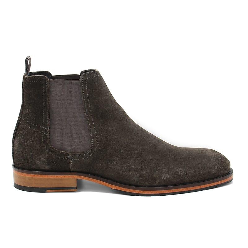 vue exterieur chelsea boots basse homme cuir daim gris jules & jenn