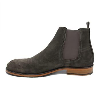 vue interieur chelsea boots basse homme cuir daim gris jules & jenn