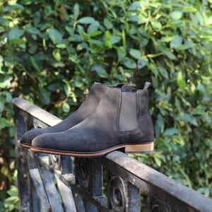 vue posee chelsea boots basse homme cuir daim gris jules & jenn
