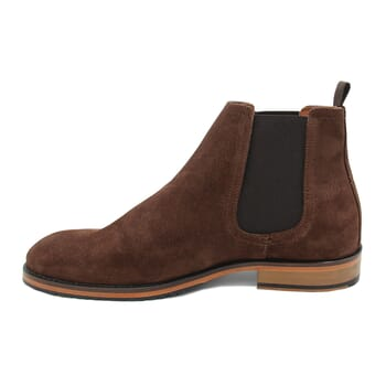 vue interieur chelsea boots basse homme cuir daim marron jules & jenn