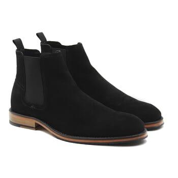 chelsea boots basse homme cuir daim noir jules & jenn