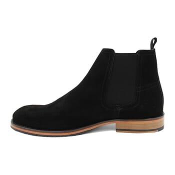 vue interieur chelsea boots basse homme cuir daim noir jules & jenn