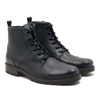 ranger boots cuir graine bleu jules & jenn