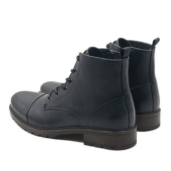 vue arriere ranger boots cuir graine bleu jules & jenn