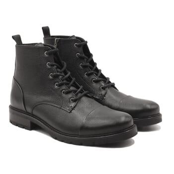 ranger boots cuir graine noir jules & jenn