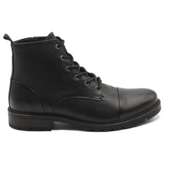vue exterieur ranger boots cuir graine noir jules & jenn
