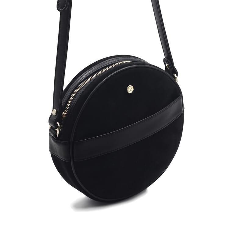 vue cote sac alice cuir daim noir jules & jenn