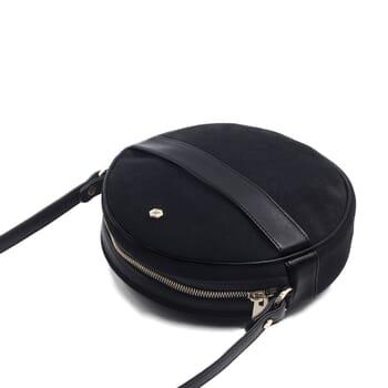 vue dessus sac alice cuir daim noir jules & jenn