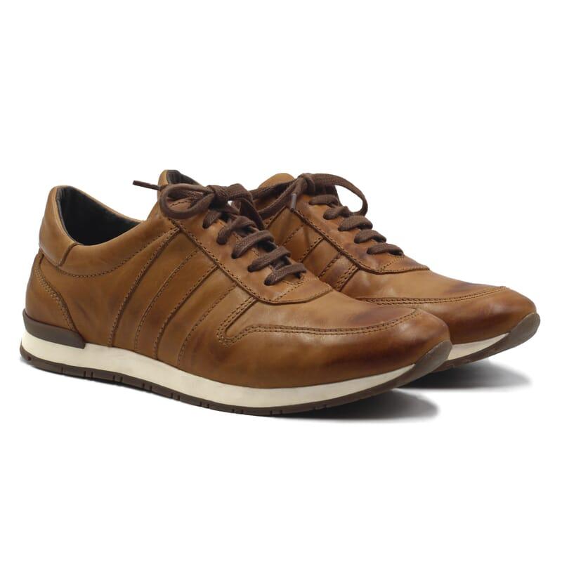 Sneakers cuir cognac Jules & Jenn