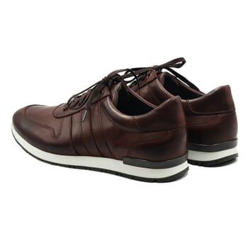 vue arriere sneakers cuir noir lacets marron jules & jenn