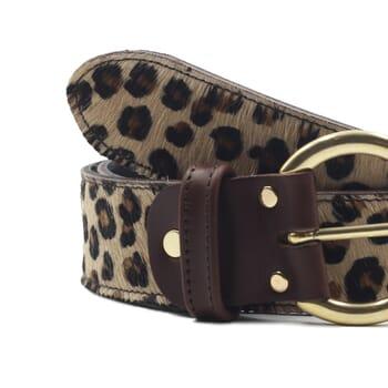 gros plan ceinture boheme cuir leopard jules & jenn