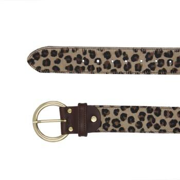 vue dessus ceinture boheme cuir leopard jules & jenn