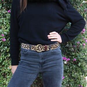 vue portee ceinture boheme cuir leopard jules & jenn
