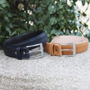 vue duo boucle ceinture classique cuir bleu jules et jenn
