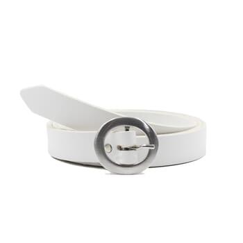 ceinture fine cuir blanc jules&jenn