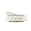 ceinture blanc cuir mademoiselle