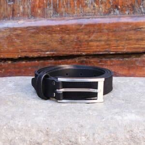 vue posee ceinture new york cuir daim noir jules & jenn