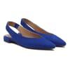 ballerines slingback cuir daim bleu royal jules & jenn